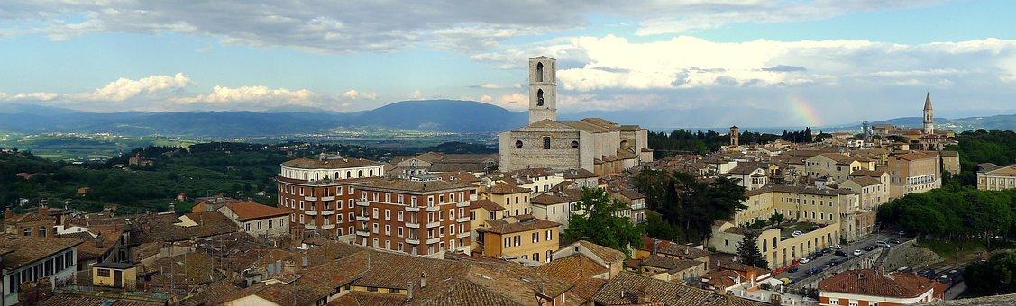 Perugia, Panorama, Basilica, San Domenico, Umbria