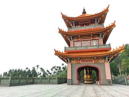 Go Through The Floor, Buddhist Temple, Buddhism, Taiwan