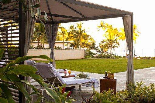 Beach, Cabana, Hawaii, Ocean, Tropical