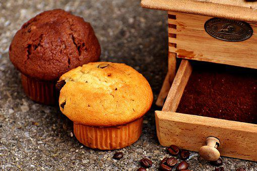 Grinder, Coffee, Muffins, Cake, Coffee Beans, Enjoy