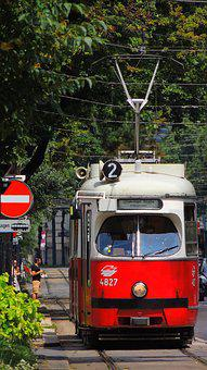 Austria, Vienna, Tram, Railway, City, Europe, Transport