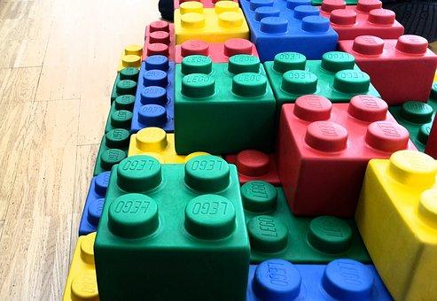 Lego, Building Blocks, Colorful, Children, Play