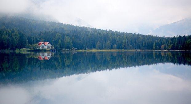 Lake, Antholz, Nature, South Tyrol, Dolomites, Alps