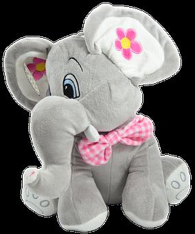 Elephant, Toys, Baby, Hug, Stuffed Animal, Isolated