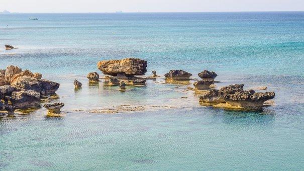 Rock, Formation, Sea, Horizon, Nature, Erosion, Scenery