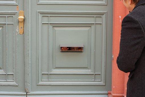 Front Door, Letter-box Slot, Child