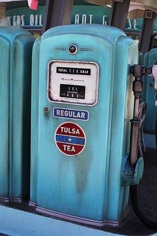 Vintage, Gas Pump, Fuel, Station, Retro, Service, Old