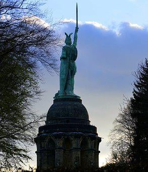 Herman Monument, Statue, Monument, Evening, History