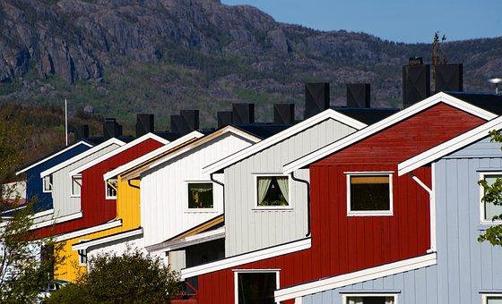 Brekstad, Trondheim, Norway, Norvey, House, Colors