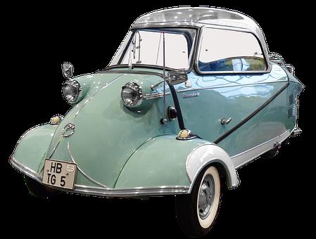 Isolated, Messerschmitt, Cabin Scooter, 50 Years