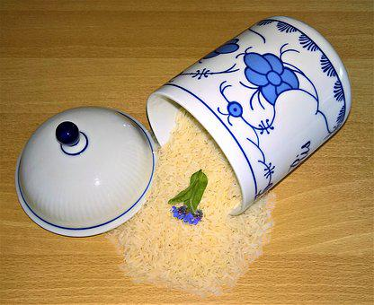 Rice, Jasmine Rice, Rice Grains, Box, Porcelain