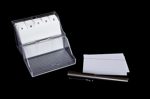 Index Card Box, Flashcards, Karteibox
