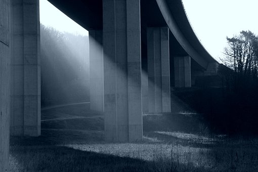 Bridge, Sunrise, Light, Morning, Mood, Architecture