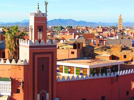 Marrakech, Minaret, Mosque, Religious Monuments
