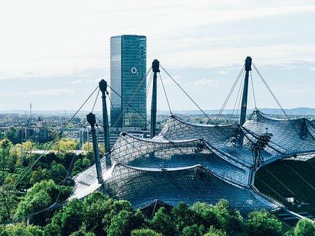 O2, Munich, O2 Tower, Architecture, Glass Facade, Discs