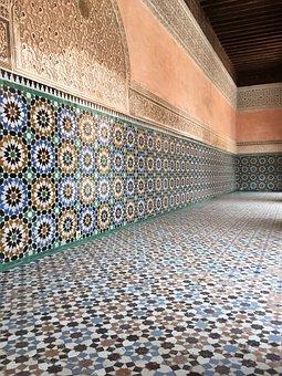 Tiles, Morocco, Orient, Africa, Marrakech, Oriental