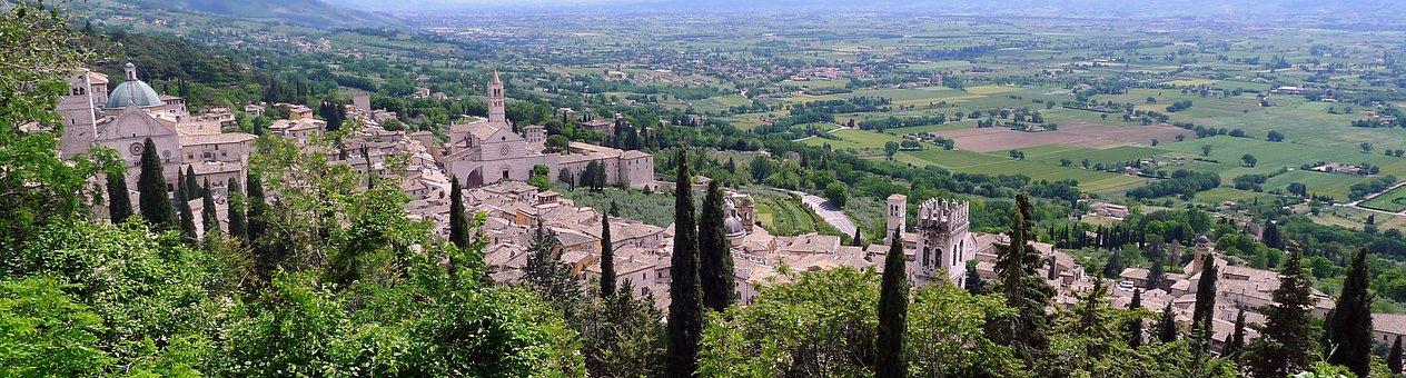 Assisi, Landscape, Santa Chiara, Panorama, Catholic