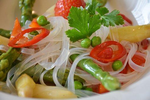 Rice Noodles, Noodles, Pasta Salad, Asparagus, Green
