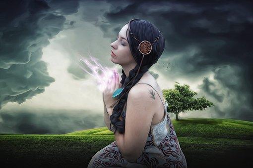 Woman, Female, Beauty, Lady, Spiritualism, Pray