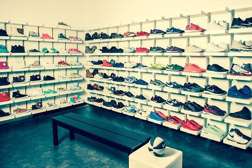 School Aden, Sneakers, Shoes, Shelf, Spot Shoes
