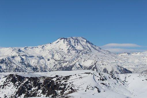 Volcano, Snow, Landscape, Cordillera, Chile, Andes