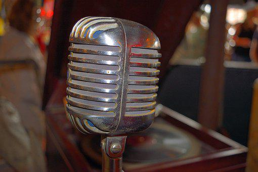 Old Microphone, Vintage, Retro, Antique, Microphone