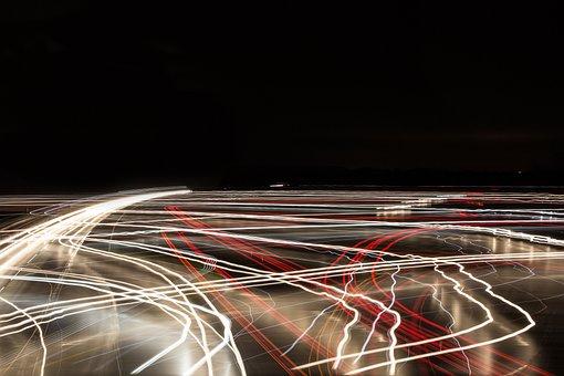 Traffic, Highway, Lights, At Night, Vehicles, Germany
