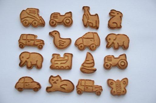 Cookies, Baby Biscuits, Figures, Sweets, Breakfast