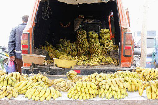 Bananas, Market, Market Stall, Buy, Fruit, Healthy