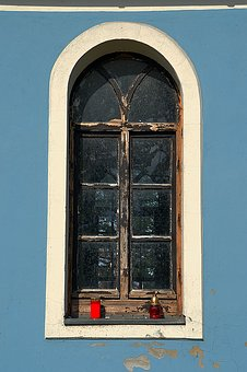 Window, Tempra I, Szekszárd, Blue, Church