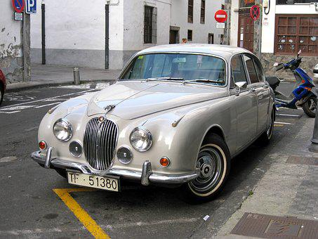Jaguar, Car, Classic, Vehicle, Retro, Chrome, Transport