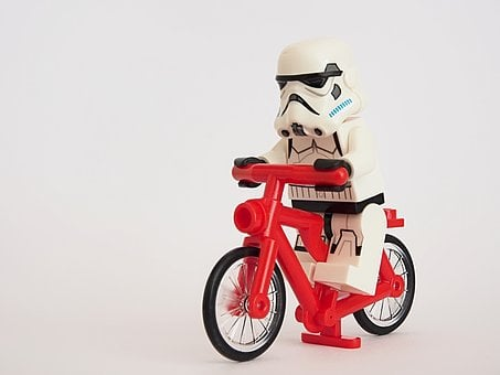 Stormtrooper, Lego, Bicycle, Cyclist, Cycling