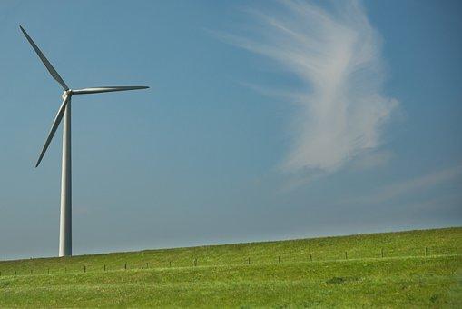 Windmill, Dutch, Green, Netherlands, Holland, Landscape