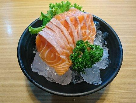Salmon, Sashimi, Fish, Japanese Food