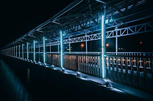 Harbour Bridge, Photo Light, Evening, Come, Green