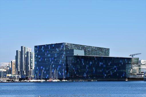 Harpa, Reykjavik, Harbour, Iceland, Architecture, Urban
