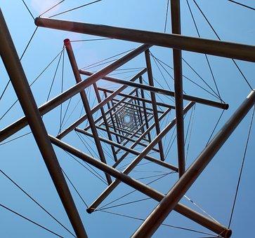 Art, Sculpture, Geometric, Museum, Large, High