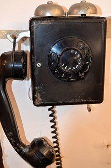 Old Phone, Dial, Vintage, Telephone, Landline Phone