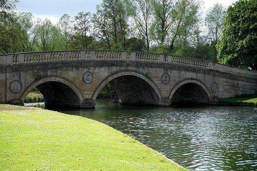 Bridge, Water, Landscape, River, Architecture, Sky