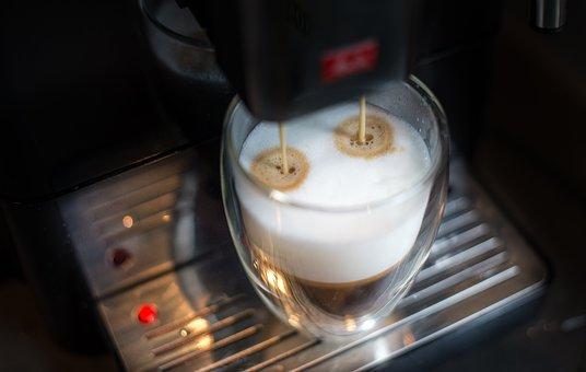 Preparing, Latte, Coffee, Milk, Breakfast, Calcium