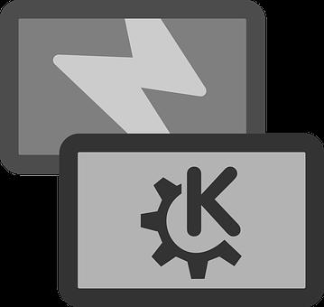 Cards, Flashcard, Half Gear, Letter K, Lightning Bolt