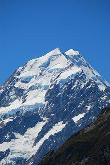 Mountain Top, Mount Cook, New Zealand, Southern Alps