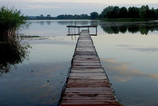 Lake, Bridge, The Silence, Water, Peace Of Mind