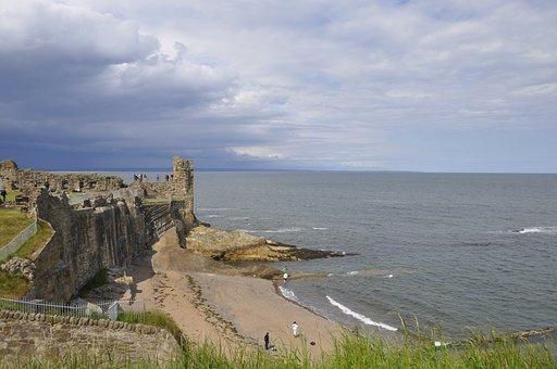 St Andrews, Castle, Ru, Fife, Scottish, Historic