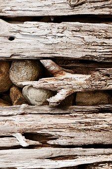 Driftwood, Rust, Coast, Rough, Saltwater, Beaten, Worn