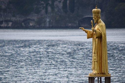 Statue, San Nicolò, Lecco, Lake, Lombardy, Water