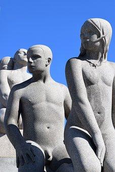 Statues, Sculpture, Vigeland, Fogner, Oslo, Park