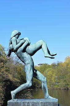 Statue, Sculpture, Vigeland, Frogner, Oslo, Strength
