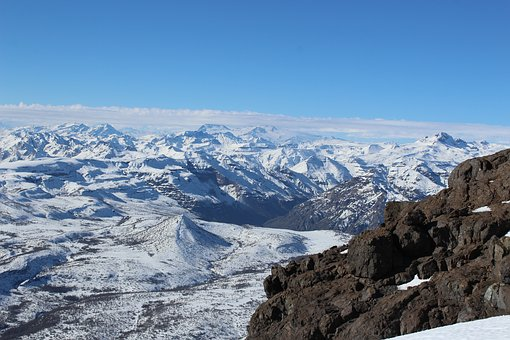 Mountains, Snow, Andes, Chile, Volcano, Cordillera