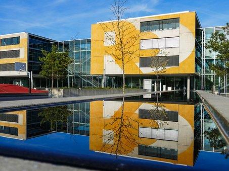 Building, Munich, 3d Basketball Court, Water, Mensa